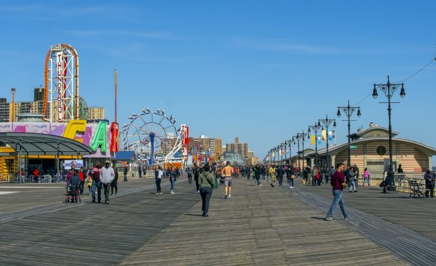 Panoramic Seaside Boardwalk