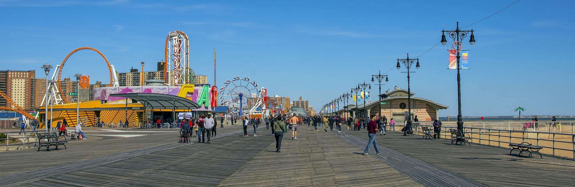 Panoramic Seaside Boardwalk